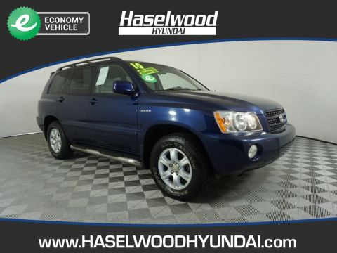 Pre-Owned 2001 Toyota Highlander 1/2 ton Base